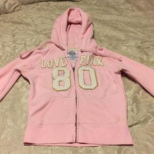 PINK pink zip-up hoodie